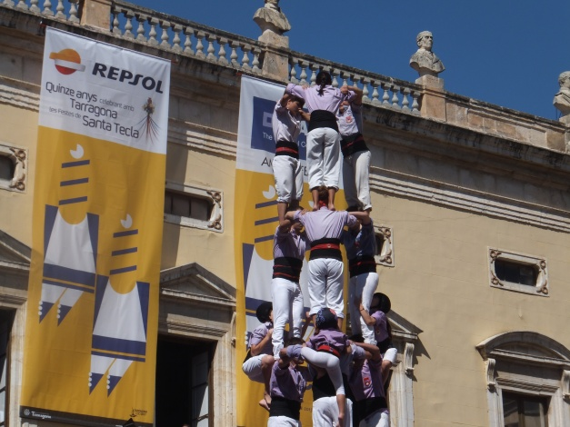 Human towers at the fiesta Santa Tecla Tarragona