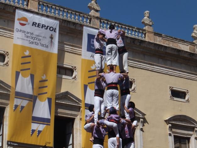 Human towers at the fiesta Santa Tecla Tarragona